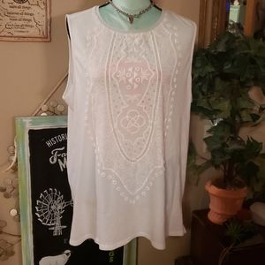 Dana Buchman White Dress Tank Size XL